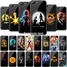 Dragon Ball Black Back Tempered Glass TPU Phone Cases
